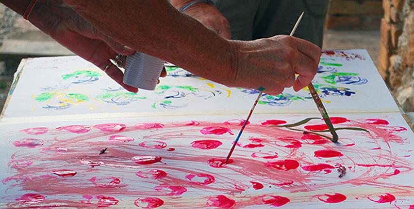 malen im Urlaub