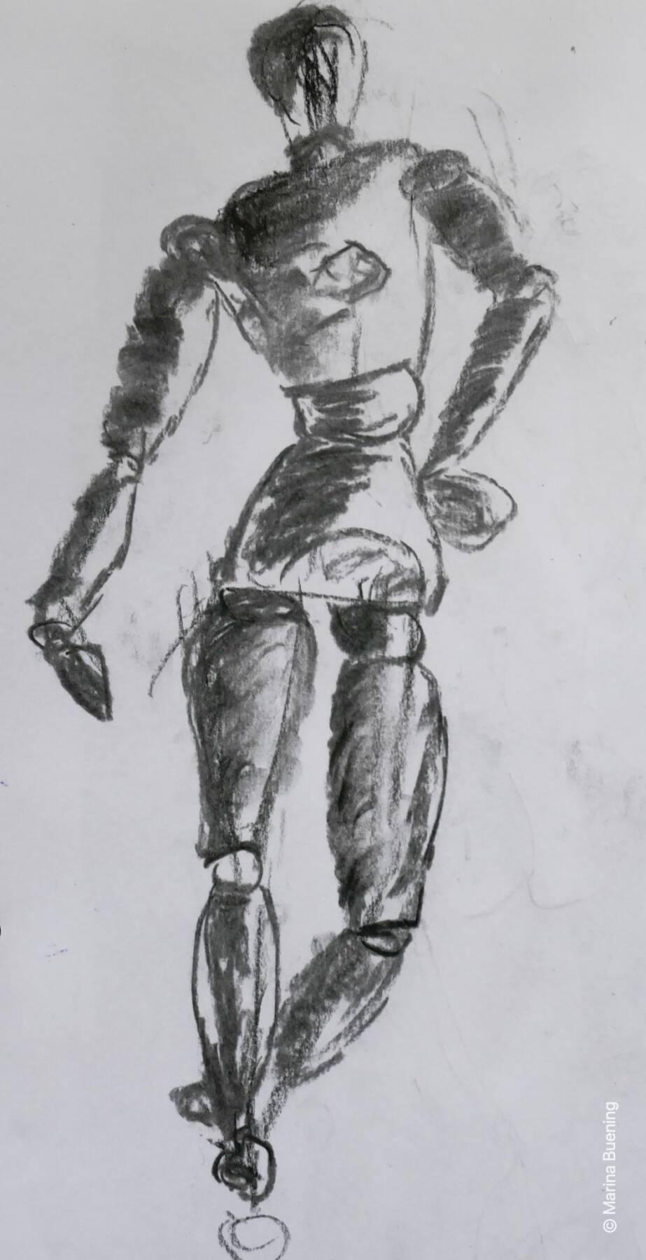 Holzpuppen zeichnen